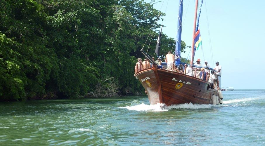 palmier-tour-agence-de-voyages-L'île-aux-Cerfs-en-bateau-pirate